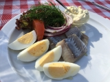 <h5>Traditional open face sandwich in in Copenhagen</h5>