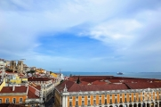 <h5>A view of Lisbon, Portugal from Arco da Rua Augusta</h5>