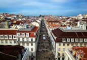 <h5>The view of R. Augausta from Arco da Rua Augusta, Lisbon, Portugal</h5>