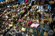 <h5>Love locks near The Pont des Arts, Paris, France</h5>