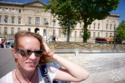 <h5>Krissy and the Louvre, Paris, France</h5>