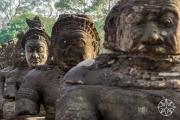 <h5>The south bridge to Angkor Thom, Angkor, Siem Reap, Cambodia</h5>
