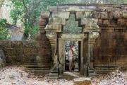 <h5>Krissy at the Royal Palace grounds, Angkor Thom, Angkor, Siem Reap,Cambodia</h5>
