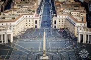 <h5>The view of St. Peter's Square from St. Peter's Basilica Dome, Vatican City, Italy</h5>