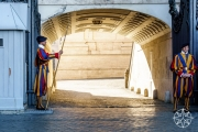 <h5>Swiss Guards at St. Peter's Basilica, Vatican City, Italy</h5>