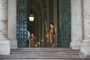 <h5>Swiss Guards, St. Peter&#039;s Basilica, Vatican City, Italy</h5>