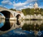 <h5>San Giovanni de' Fiorentini, Ponte Principe Amadeo Savoia Aosta, and the River Tiber, Rome, Italy</h5>
