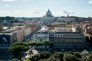 <h5>View of Vatican City from Castel Sant'Angelo, Rome, Italy</h5>