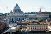 <h5>View of St. Peter's Basilica from Castel Sant'Angelo, Rome, Italy</h5>
