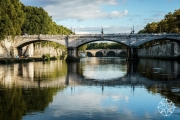<h5>Pont Giuseppe, Ponte Sisto and the River Tiber, Rome, Italy</h5>