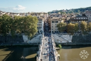 <h5>View of St. Angelo Bridge from Castel Sant'Angelo, Rome, Italy</h5>