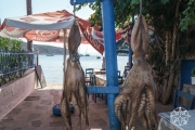 <h5>Fresh Catch at Aperanto Galazio Restaurant, Vathy Beach, Sifnos, Cyclades Islands, Greece</h5>